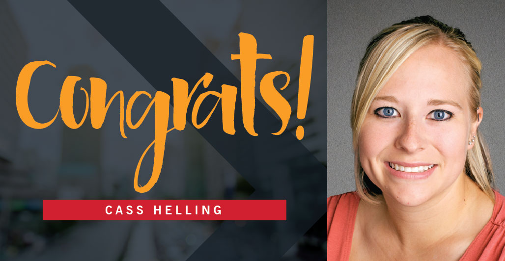 Cass Helling promoted to Accounts Receivable Supervisor
