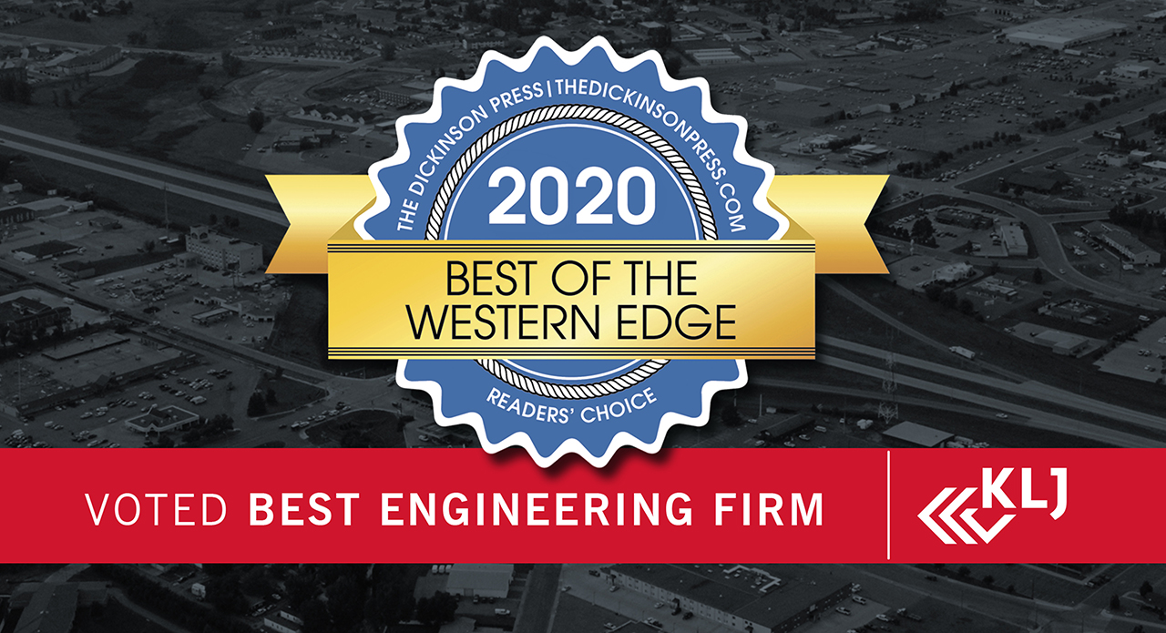 "KLJ Awarded Best of the Western Edge ""Best Engineering Firm"""
