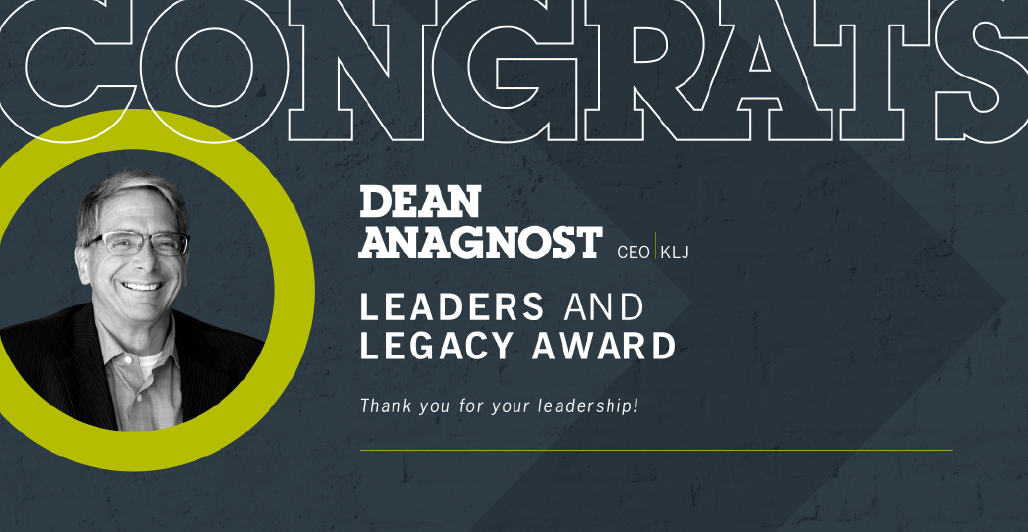 CEO, Dean Anagnost, Recognized with Leaders and Legacies Award